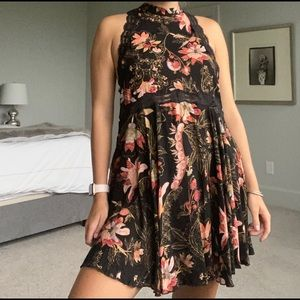 Free People Black Floral Shift Dress